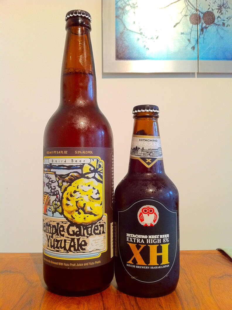 Selections from the Kiuchi and Baird breweries in Japan
