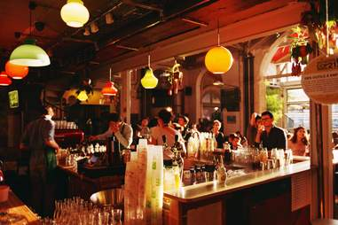 inside bar dark paris La Recyclerie
