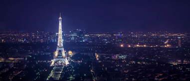 Tour Montparnasse paris at night eiffel tower