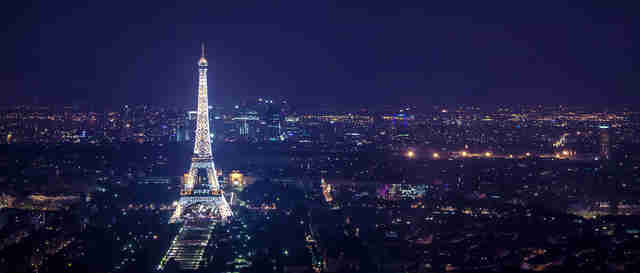 Tour Montparnasse paris at night eiffel tower