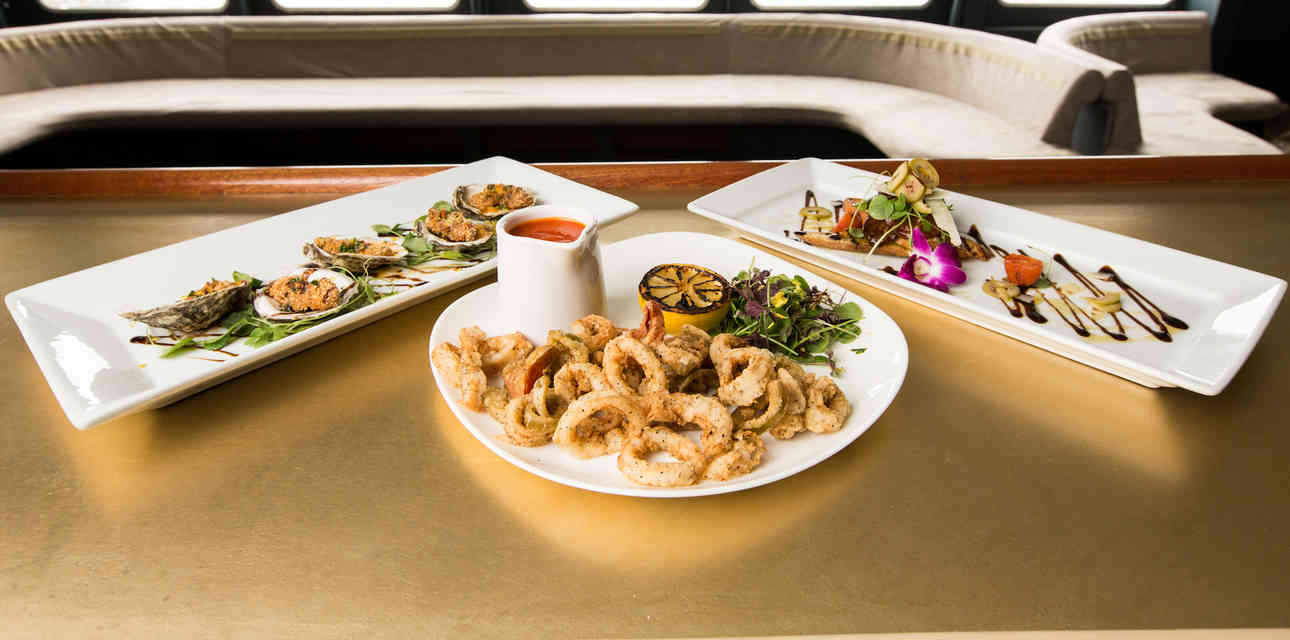 First Look Inside North River Landing\'s 3-Story Seafood Lounge... on a Yacht