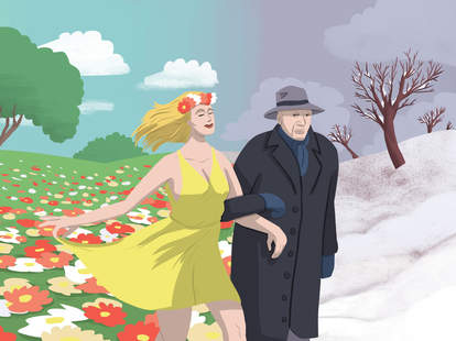 Jason Hoffman Thrillist illustration of younger lady with older man