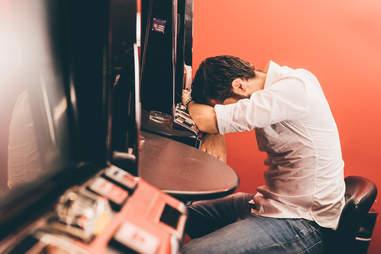 man with gambling addiction