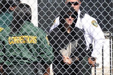 Justin Bieber leaving Miami prison