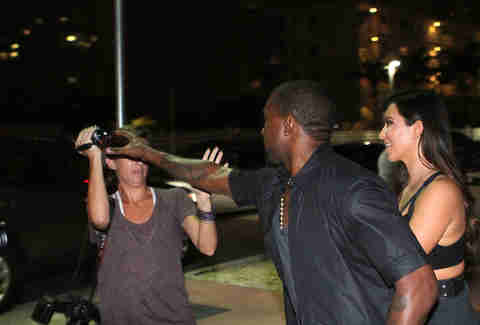 Kanye West knocking off camerawoman in Miami