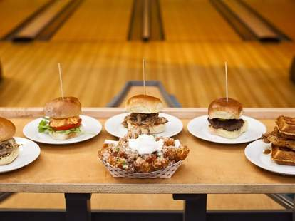 The Alley Charleston burgers wings thrillist bowling
