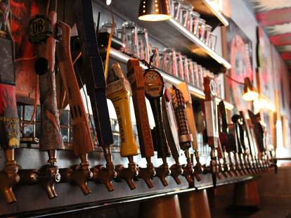Galaxy Hut beer taps
