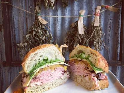 Sandwich at Wildwood Market