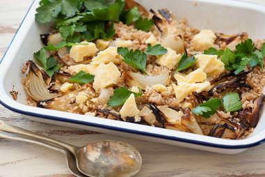 farro and onion dish
