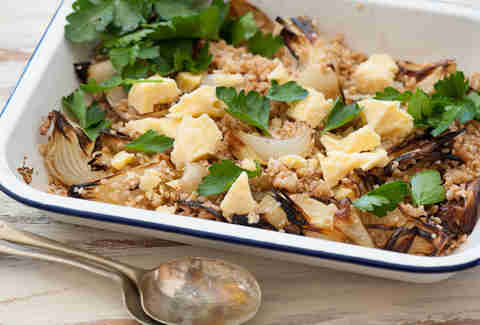 farro and onion dish