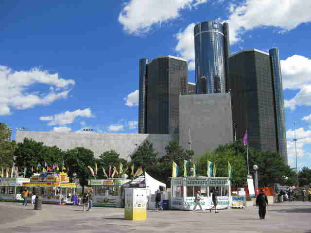 downtown detroit vendors buildings