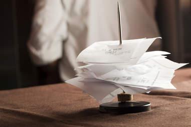 restaurant bills