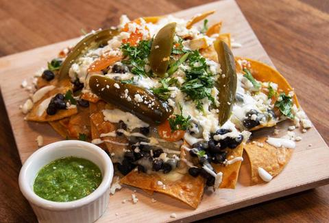 nachos at Fonda