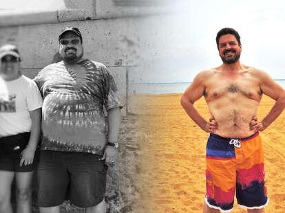 man weightloss