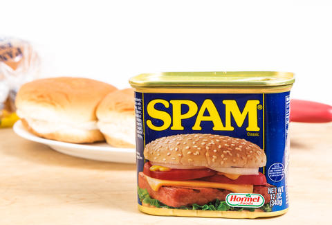 Can of spam for sandwich