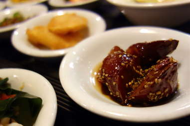 Gamja jorim or goguma mattang (braised potatoes)