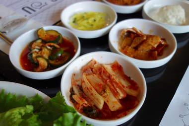 Baechu kimchi (spicy pickled cabbage)
