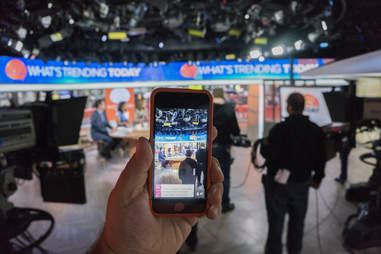 Periscope streaming live news on an iphone