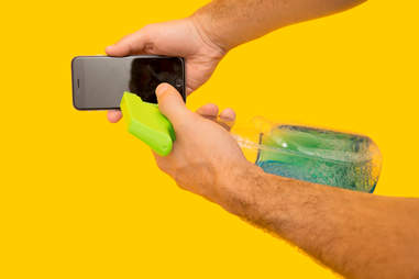 Don't use household cleaners on iPhone