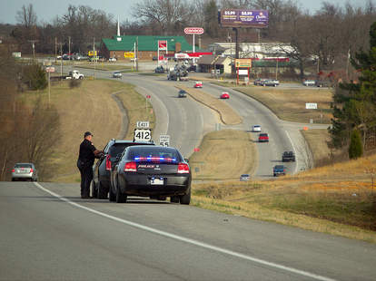 Oklahoma's speed trap is right on the Arkansas border