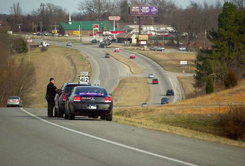 Oklahoma's speed trap is right on the Arkansas border