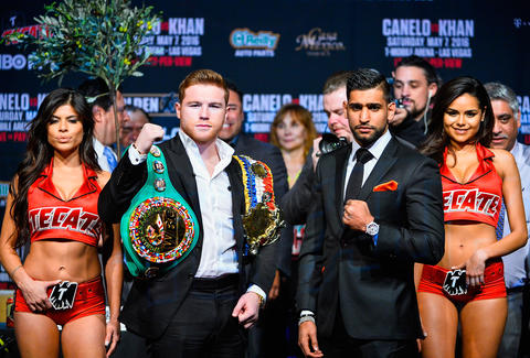 "Saul ""Canelo"" Alvarez and Amir Khan"