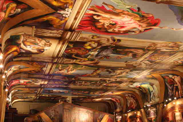Sistine Chapel in Spray Paint (Galleria De Paco)