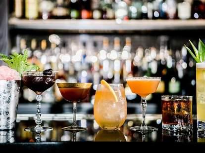 The Berkshire Room craft cocktails thrillist chicago glasses on bar