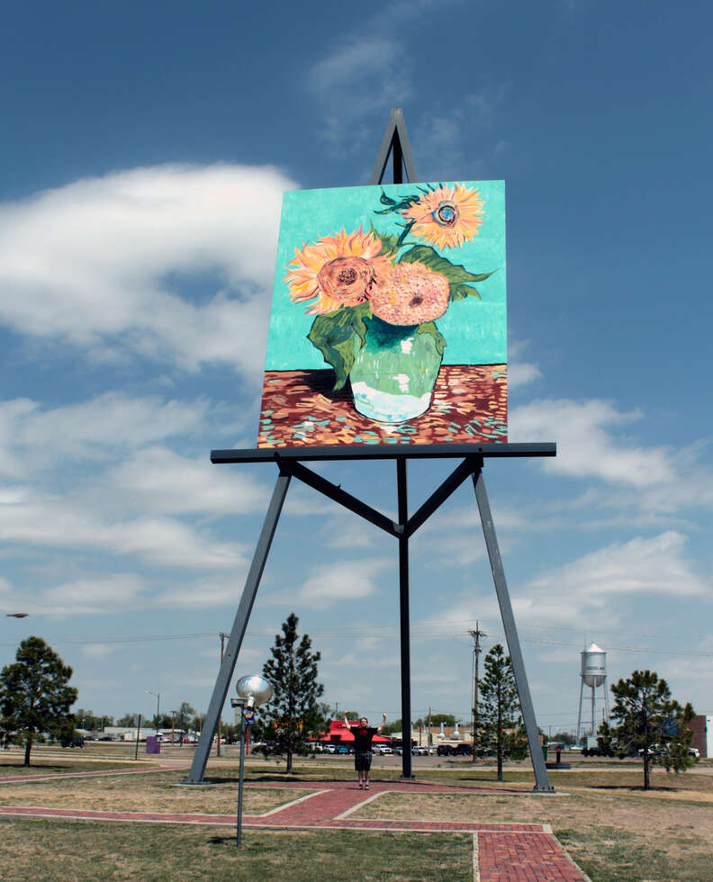 World's largest easel in Goodland, KS