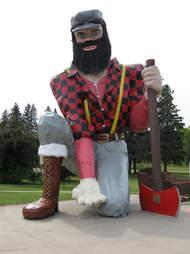 Paul Bunyan Statue Akely Minnesota