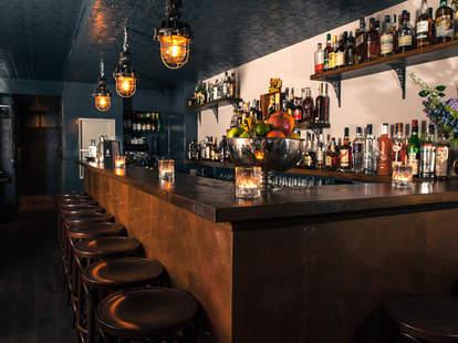 PortSide Parlour interior bar rustic industrial london thrillist