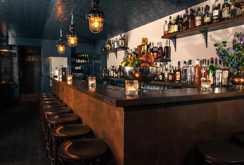 PortSide Parlour interior bar rustic industrial london thrillist