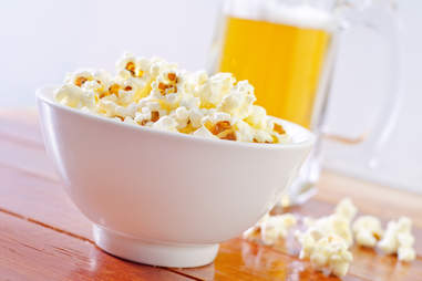 popcorn and beer