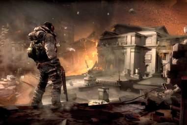 Doom videogame landscape