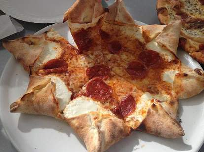 Star shaped pizza