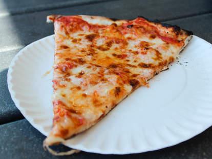 slice of plain pizza