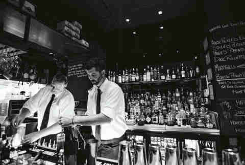 Craig Nelson and Roger Gelis bartenders at Proof in Charleston