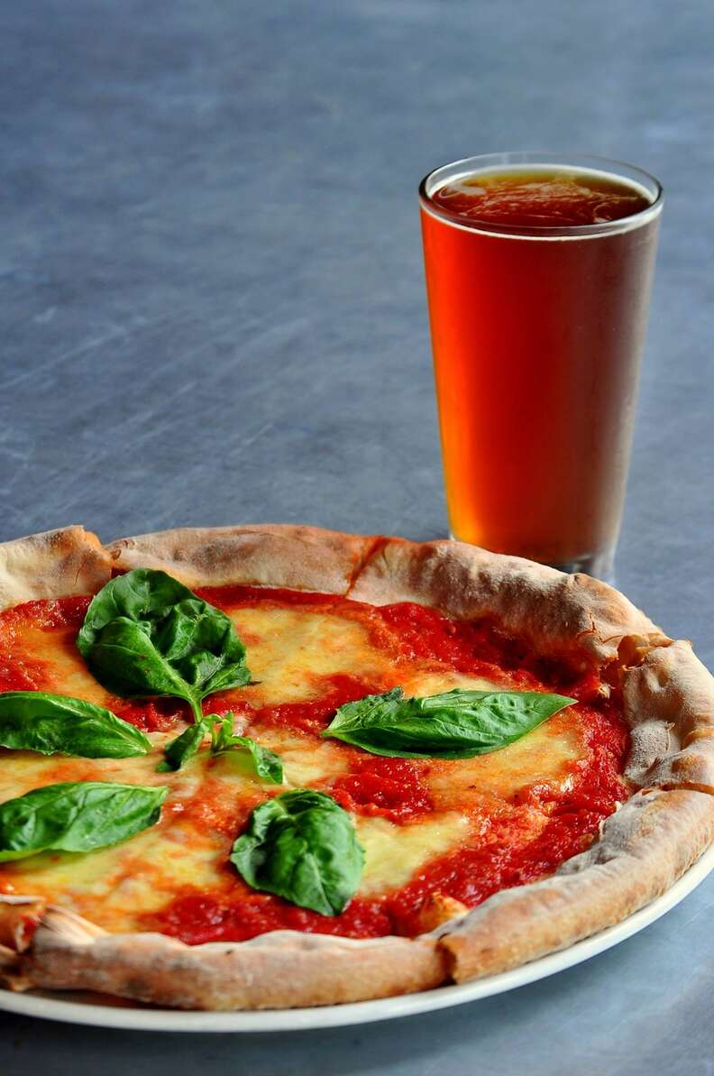 Stella Public House pizza and beer