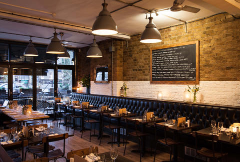 8 HOXTON SQUARE interior industrial dining room thrillist london
