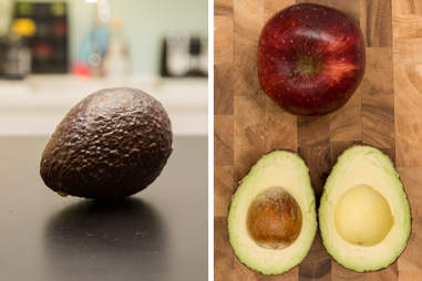apple ripened avocado in a bag