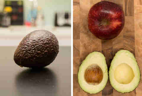apple ripened avocado