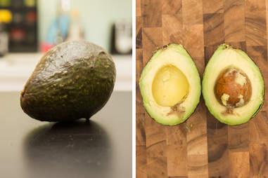 opened ripened avocado