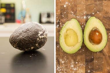 flour ripened avocado in a bag