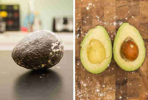 flour ripened avocado