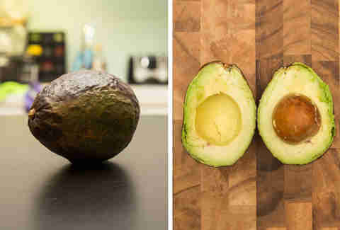 microwave ripened avocado