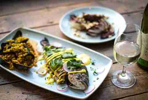 Ozone Coffee Roasters London fish plates white wine thrillist