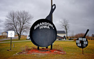 Iowa's Largest Frying Pan