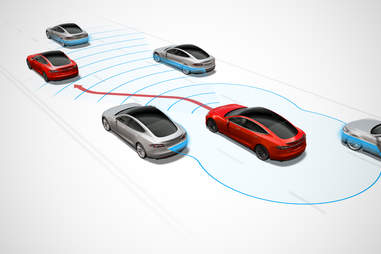 Tesla self driving feature