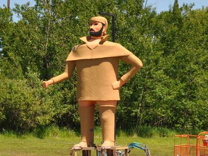 Pierre, the Pantsless Voyageur of Two Harbors