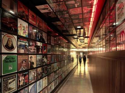 hallway at secret pizza